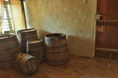 葡萄酒桶室 免版税库存图片