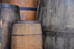 葡萄酒桶木头 图库摄影