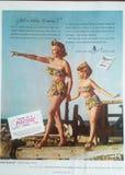葡萄酒棉花泳装广告 库存图片