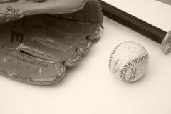 葡萄酒棒球 免版税库存图片
