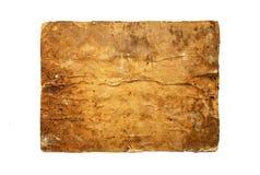 葡萄酒棕色纸板背景 老难看的东西纹理褐色pap 免版税库存照片