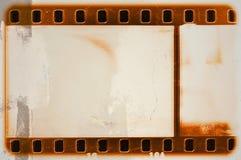葡萄酒橙色影片小条框架 减速火箭设计的要素 免版税图库摄影