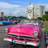 葡萄酒汽车在哈瓦那 免版税图库摄影
