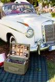 葡萄酒汽车的特写镜头视图 库存图片