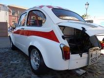 葡萄酒汽车的陈列,在塔拉韦拉德拉雷纳, Spain7供以座位600 Abarth 免版税库存图片