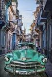 葡萄酒汽车,哈瓦那幻想 免版税库存照片