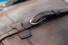 葡萄酒汽车细节-手提箱 免版税库存照片