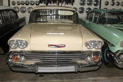 葡萄酒汽车1958年薛佛列交付轿车 免版税库存照片