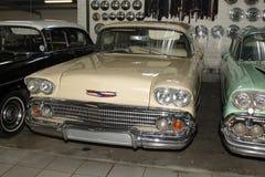 葡萄酒汽车1958年薛佛列交付轿车 免版税图库摄影