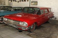 葡萄酒汽车1960年薛佛列Brookwood小型客车 库存照片
