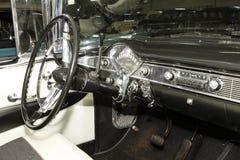 葡萄酒汽车1956年薛佛列Hardtop小轿车 库存照片