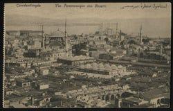 葡萄酒法国明信片君士坦丁堡 免版税库存照片