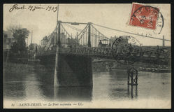 葡萄酒法国明信片圣但尼 库存图片