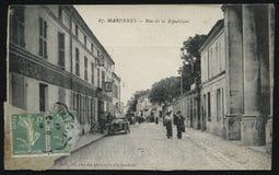 葡萄酒法国明信片拉罗歇尔 免版税库存照片