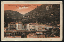 葡萄酒法国明信片 免版税图库摄影