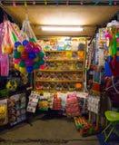 葡萄酒泰国的老玩具和糖果商店 免版税图库摄影