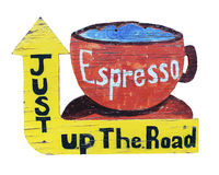 葡萄酒浓咖啡标志 库存图片
