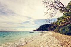 葡萄酒海和海滩Similan海岛,泰国 库存图片
