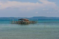 葡萄酒海房子在暹罗湾 免版税库存照片