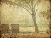 葡萄酒海滩图象 免版税库存图片