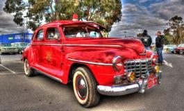 葡萄酒澳大利亚被建立的20世纪40年代推托消防队长汽车 库存图片