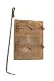 葡萄酒火炉门和壁炉铁 免版税库存照片