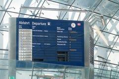 葡萄酒火车信息搭乘板德国 免版税库存图片