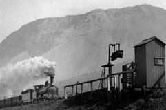 1900年葡萄酒火车照片Llanfairfechan,威尔士 图库摄影