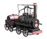 葡萄酒火车玩具 免版税库存图片