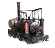 葡萄酒火车玩具 免版税库存照片