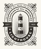 葡萄酒灯塔印刷术一种颜色 皇族释放例证