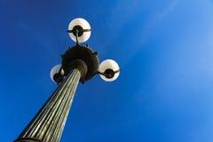 葡萄酒灯柱,维也纳 库存图片