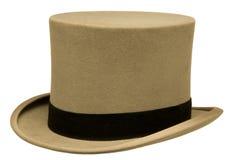 葡萄酒灰色高顶丝质礼帽 库存照片