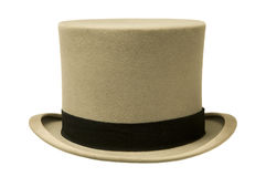 葡萄酒灰色高顶丝质礼帽 库存图片