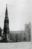 葡萄酒照片受难者纪念品和教会,马德林Stre 1900年  库存照片