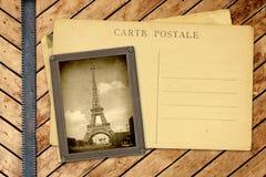 葡萄酒照片和明信片 免版税图库摄影