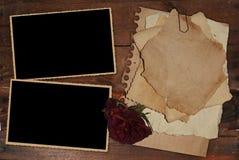葡萄酒照片框架 库存照片