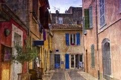 葡萄酒照片法语卡西斯 免版税库存图片