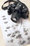 葡萄酒照片照相机和图片 图库摄影