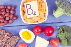 葡萄酒照片,包含维生素B2和饮食纤维,健康营养概念的成份 免版税图库摄影