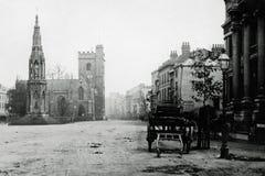 葡萄酒照片1900受难者纪念品和教会,马德林St,黄牛 免版税库存照片