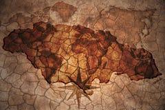 葡萄酒牙买加地图 库存照片