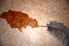 葡萄酒牙买加地图 免版税图库摄影
