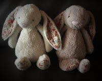 葡萄酒玩具小兔 图库摄影