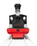 黑葡萄酒玩具火车 免版税库存图片