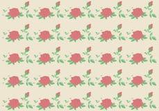 葡萄酒玫瑰无缝的传染媒介样式背景 库存照片
