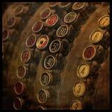 葡萄酒现金registrer 库存图片