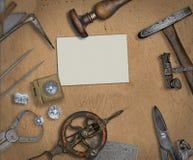 葡萄酒珠宝商工具和金刚石 库存图片