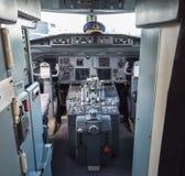 葡萄酒班机的驾驶舱 免版税库存图片