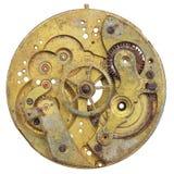 葡萄酒生锈的时钟的特写镜头 库存照片